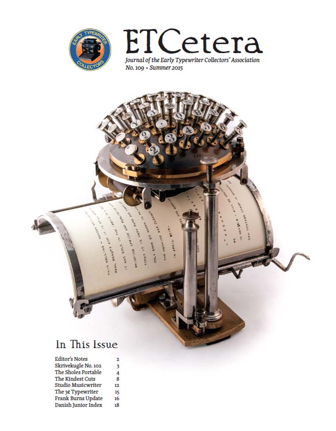ETCetera No. 109 - Summer 2015