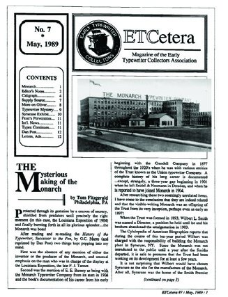 ETCetera No. 7 - May 1989