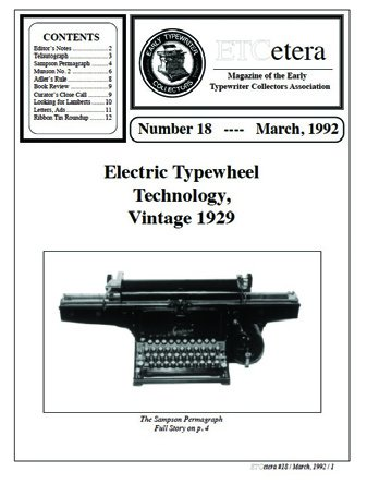 ETCetera No. 18 - March 1992